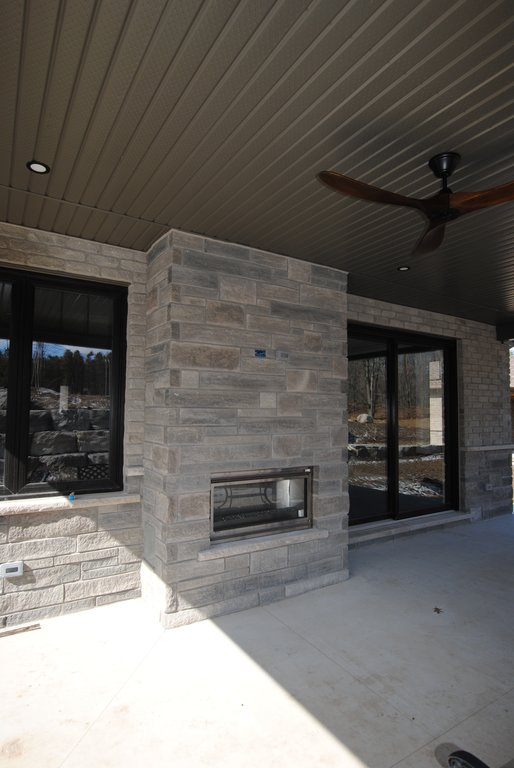 Covered Patio Fireplace