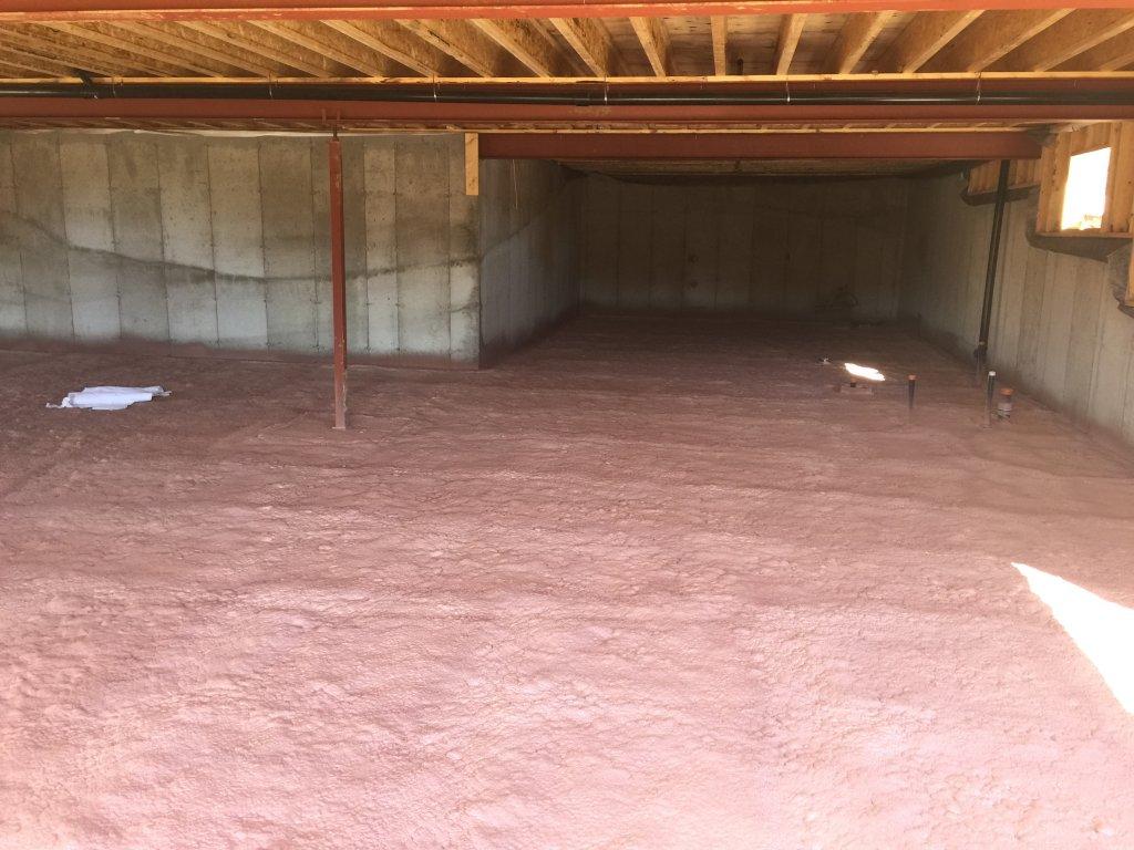 Spray Foam Ensures Comfortable Dry Basements